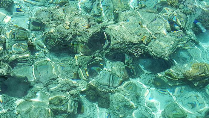蔚藍的大海,礁石