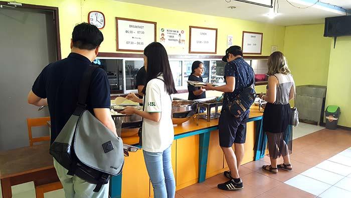 UV語言學校-餐廳,學生餐食