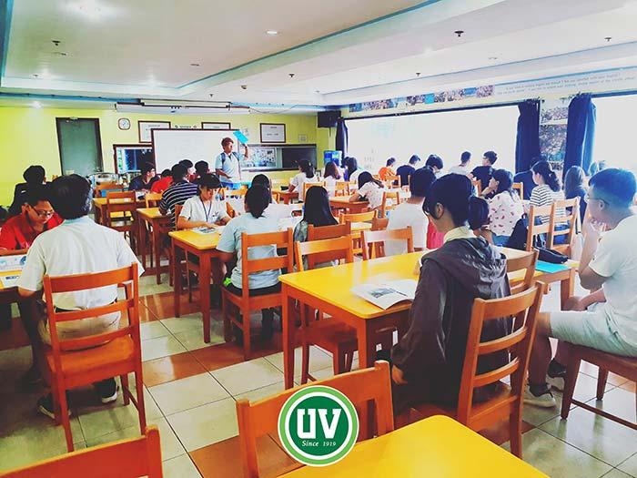 UV語言學校, 宿霧, 新生訓練,  新生測驗, 菲律賓遊學