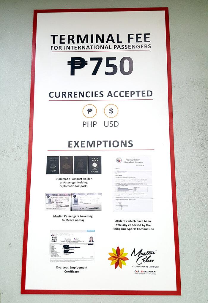 宿霧機場稅-Cebu Terminal Fee