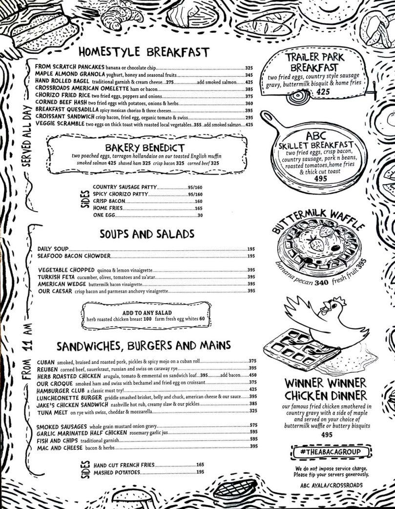 Abaca Baking Company menu, Abaca咖啡廳菜單