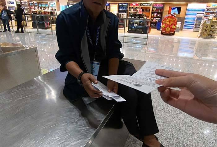 海關申報表, 入境卡填寫範例