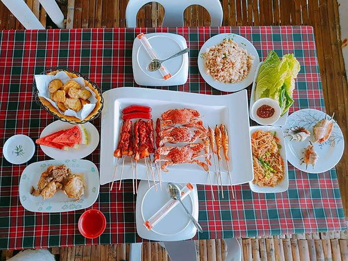 KKday的跳島午餐, 海鮮午餐, 螃蟹, 炸雞, BBQ, 烤肉