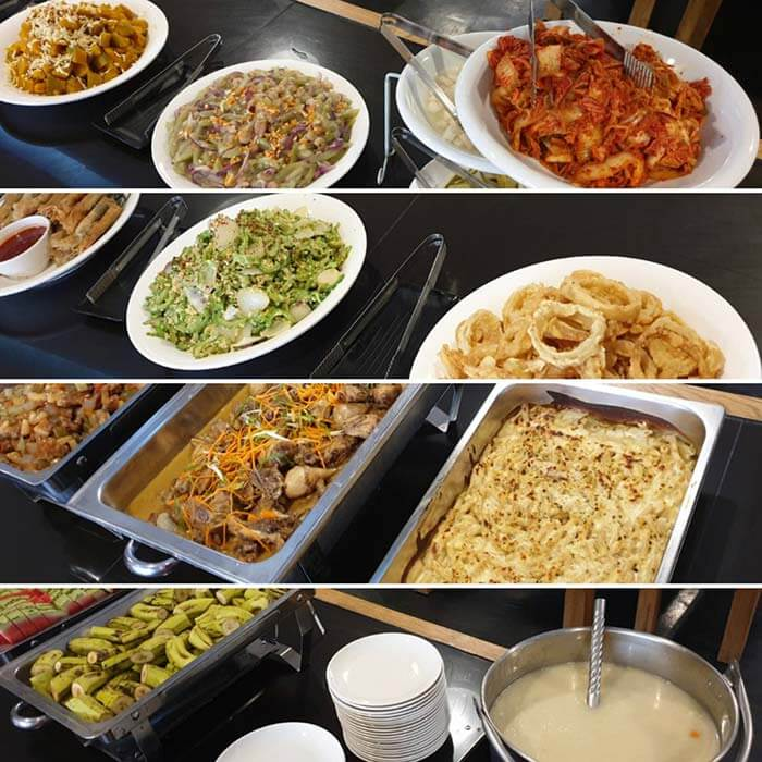 EV菜色多樣選擇, 鍋邊素, 有菜有肉, 湯, 水果