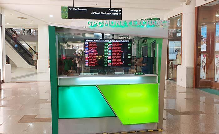 Ayala百貨換匯- 營業時間